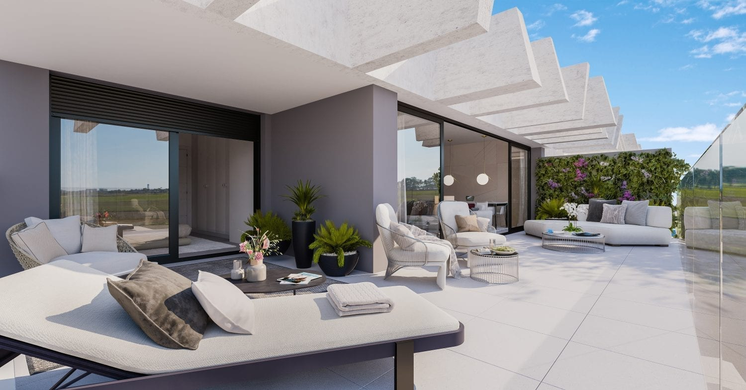 spacious terraces ensure an optimum use